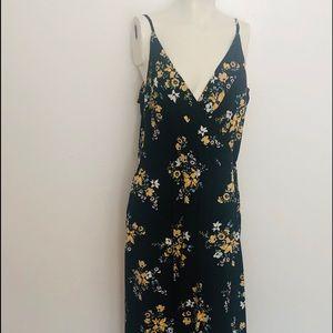 H&M Floral Print Maxi Faux Wrap Dress